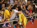 Anna Meares of Australia celebrates winning the Gold medal in the Women's Sprint Track Cycling Final on Day 11 of the London 2012 Olympic Games at Velodrome on August 7, 2012 in London, England.