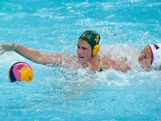 Holly Lincoln-Smith of Australia competes for the ball in the Women's Water Polo semifinal match between Australia and the United States at the Water Polo Arena on August 7, 2012 in London, England.
