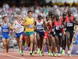 Daniele Meucci of Italy, Hassan Hirt of France, Collis Birmingham of Australia, Mohamed Farah of Great Britain, Edwin Cheruiyot Soi of Kenya and Isiah Kiplangat Koech of Kenya compete in the Men's 5000m Round 1 Heats on Day 12 of the London 2012 Olympic Games at Olympic Stadium on August 8, 2012 in London, England.