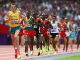 Craig Mottram of Australia leads the pack in the Men's 5000m Round 1 Heats on Day 12 of the London 2012 Olympic Games at Olympic Stadium on August 8, 2012 in London, England.