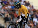 Khalen Young of Australia competes in the Men's BMX Cycling on Day 12 of the London 2012 Olympic Games at BMX Track on August 8, 2012 in London, England.