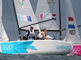 Olivia Price, Nina Curtis and Lucinda Whitty of Australia compete in the Women's Elliott 6m WMR Sailing on Day 12 of the London 2012 Olympic Games at the Weymouth & Portland Venue at Weymouth Harbour on August 8, 2012 in Weymouth, England.