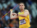 Jarrod Bannister of Australia competes in the Men's Javelin Throw Qualifications on Day 12 of the London 2012 Olympic Games at Olympic Stadium on August 8, 2012 in London, England.