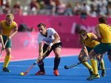 Christopher Zeller of Germany competes during the Men's Hockey Semi Final match between Australia and Germany on Day 13 of the London 2012 Olympic Games at Riverbank Arena Hockey Centre on August 9, 2012 in London, England.