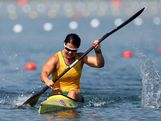 Alana Nicholls of Australia competes in the Women's Kayak Single (K1) 200m Sprint semifinals on Day 14 of the London 2012 Olympic Games at Eton Dorney on August 10, 2012 in Windsor, England.