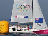 Olivia Price, Nina Curtis and Lucinda Whitty of Australia compete in the Women's Elliott 6m WMR Sailing on Day 14 of the London 2012 Olympic Games at the Weymouth & Portland Venue at Weymouth Harbour on August 10, 2012 in Weymouth, England.