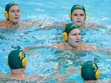 The Australian players form a circle ahead of the Men's Water Polo Semifinal 5-8 match betweenHungary and Australia on Day 14 of the London 2012 Olympic Games at the Water Polo Arena on August 10, 2012 in London, England.