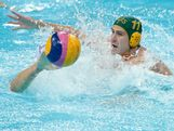 Rhys Howden #11 of Australia competes for the ball in the Men's Water Polo Semifinal 5-8 match between Hungary and Australia on Day 14 of the London 2012 Olympic Games at the Water Polo Arena on August 10, 2012 in London, England.