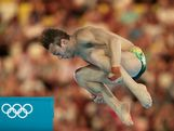 Matthew Mitcham of Australia competes in the Men's 10m Platform Diving Semifinal on Day 15 of the London 2012 Olympic Games at the Aquatics Centre on August 11, 2012 in London, England.