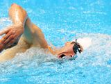 Ed Fernon of Australia competes in the Swimming 200m Freestyle event in the Men's Modern Pentathlon on Day 15 of the London 2012 Olympic Games on August 11, 2012 in London, England.