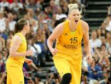 Lauren Jackson #15 of Australia celebrates in the second half against Russia during the Women's Basketball Bronze Medal game on Day 15 of the London 2012 Olympic Games at North Greenwich Arena on August 11, 2012 in London, England.