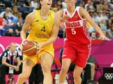 Jenna O'Hea #4 of Australia drives against Evgeniya Belyakova #5 of Russia during the Women's Basketball Bronze Medal game on Day 15 of the London 2012 Olympic Games at North Greenwich Arena on August 11, 2012 in London, England.