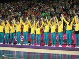 Bronze medalists Australia wave from the podium after the Women's Basketball Gold Medal game on Day 15 of the London 2012 Olympic Games at North Greenwich Arena on August 11, 2012 in London, England.