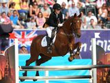 Chloe Esposito of Australia riding Glen Gold competes during the Riding Show Jumping in the Women's Modern Pentathlon on Day 16 of the London 2012 Olympic Games on August 12, 2012 in London, England.