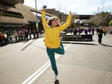 Jessica Fox celebrates during the Australian Olympic Team Homecoming Parade in the Sydney CBD on August 20, 2012 in Sydney, Australia.