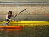Danielle Currie of New Zealand competes in the Women's K1 500 semi final during day one of the 2013 Australian Youth Olympic Festival at the Sydney International Regatta Centre on January 16, 2013 in Sydney, Australia.