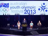 President of the Australian Olympic Committee John Coates speaks at the Australian Youth Olympic Festival Opening Ceremony during day one of the 2013 Australian Youth Olympic Festival at Sydney Entertainment Centre on January 16, 2013 in Sydney, Australia.