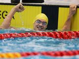 Regan Leong of Australia celebrates winning the Men's 200m freestyle during day two of the 2013 Australian Youth Olympic Festival at Sydney Olympic Park Aquatic Centre on January 17, 2013 in Sydney, Australia.