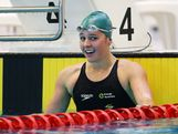Amelia Gould of Australia celebrates winning the Women's 200m freestyle final during day two of the 2013 Australian Youth Olympic Festival at Sydney Olympic Park Aquatic Centre on January 17, 2013 in Sydney, Australia.