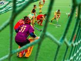 Kate Gilmore of Australia attacks the Chinese goal in the Women's Hockey Final between Australia and China at Sydney Olympic Park Hockey Centre on January 20, 2013 in Sydney, Australia.