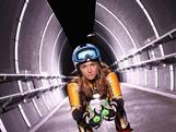 Australian alpine ski racer Lavinia Chrystal poses during a portrait session on June 17, 2013 in Sydney, Australia. Chrystal is aiming to qualify for the Australian Winter Olympic Team in multiple downhill events for the 2014 Sochi Winter Olympic Games.
