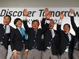 (L-R) Yuki Ota Tokyo 2020 Bid Committee Ambassador pose with Christel Takigawa, 'Cool Tokyo' Ambassado, Naoki Inose, Governor of Tokyo and Chairman Tokyo 2020 Bid Committee, Tsunekazu Takeda, President of the Tokyo 2020 Bid Committee, Masato Mizuno, Tokyo 2020 Bid Committee CEO and Mami Sato, Tokyo 2020 Bid Committee Ambassador after a Tokyo 2020 Bid Committee press conference at Sheraton Buenos Aires Hotel and Convention Center after Tokyo is awarded the 2020 Summer Olympic Games during the 125th IOC Session - 2020 Olympics Host City Announcement on September 7, 2013 in Buenos Aires, Argentina.