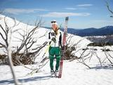 Australian cross country skiing athlete Esther Bottomley poses during a national team portrait session on September 8, 2013 in Falls Creek, Australia.