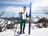Australian cross country skiing athlete Anna Trnka poses during a national team portrait session on September 8, 2013 in Falls Creek, Australia.