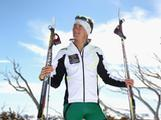 Australian cross country skiing athlete Paul Kovacs poses during a national team portrait session on September 8, 2013 in Falls Creek, Australia.