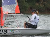 Sailor Elyse Ainsworth competing at the 2014 Summer Youth Olympic Games in Nanjing, China.
