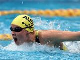 Known as 'Madame Butterfly', Susie O'Neill of Australia in action on her way to winning the silver medal in the women's 200m butterfly final.