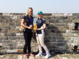 Chef de Mission Susie O'Neill and AOC Director of Athlete Support Services Jennifer Anson taking in the sites while visiting Nanjing.