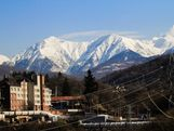 The snow capped mountains that will host the 2014 Sochi Winter Olympic Games.