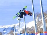 Torah Bright goes for the grab at the Sochi test event.