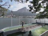 Rio rowing tank well placed with a  great view