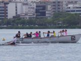 Rowing with the locals in Rio de Janeiro in November, 2014.