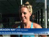 Nay has a ball at the Summer Swim Series