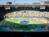 Dancers perform during the opening ceremony prior to 2014 FIFA World Cup Brazil Final match between Germany and Argentina at Maracana on July 13, 2014 in Rio de Janeiro, Brazil.