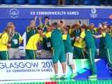 Cate Campbell, Emma McKeon, Melanie Schlanger and Bronte Campbell of Australia walk through a guard of honour after winning the gold medal in the Women's 4 x 100m Freestyle Relay Final in a world record time at Tollcross International Swimming Centre during day one of the Glasgow 2014 Commonwealth Games on July 24, 2014 in Glasgow, Scotland.