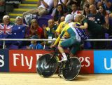Jack Bobridge of Australia celebrates after winning Gold in the Men's 4000m Individual Pursuit Final at Sir Chris Hoy Velodrome during day two of the Glasgow 2014 Commonwealth Games on July 25, 2014 in Glasgow, United Kingdom.