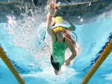 Brittany Elmslie of Australia competes in the Women's 4x200m Freestyle Relay, with Australia winning the gold during day three of the Glasgow 2014 Commonwealth Games on July 26, 2014 in Glasgow, Scotland.