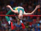 Eleanor Patterson of Australia competes in the Women's High Jump qualification at Hampden Park during day seven of the Glasgow 2014 Commonwealth Games on July 30, 2014 in Glasgow, United Kingdom.