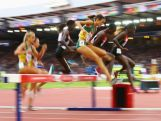 Madeline Heiner of Australia and Purity Kirui of Kenya  compete in the Women's 3000 metres Steeplechase at Hampden Park during day seven of the Glasgow 2014 Commonwealth Games on July 30, 2014 in Glasgow, United Kingdom.