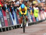 GLASGOW, SCOTLAND - JULY 31:  Katrin Garfoot of Australia competes in the Women's Cycling Road Time Trial at during day eight of the Glasgow 2014 Commonwealth Games on July 31, 2014 in Glasgow, United Kingdom.