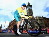 GLASGOW, SCOTLAND - JULY 31:  Luke Durbridge of Australia goes past The Tolbooth during the Men's individual time trial during day eight of the Glasgow 2014 Commonwealth Games on July 31, 2014 in Glasgow, United Kingdom.