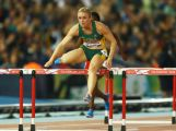 Sally Pearson of Australia competes in the Women's 100 metres hurdles heats at Hampden Park during day eight of the Glasgow 2014 Commonwealth Games on July 31, 2014 in Glasgow, United Kingdom.
