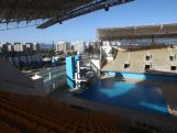 A  general view of the Barra Aquatic Centre during the 2nd World Press Briefing for the Rio 2016 Olympic Games on August 6, 2014 in Rio de Janeiro, Brazil. This venue will host diving and synchronised swimming during the Games.