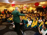 Laurie Lawrence speaks during the Australian Olympic Committee team farewell and flag bearer announcement ahead of the 2014 Youth Olympic Games at The Menzies Hotel on August 12, 2014 in Sydney, Australia.