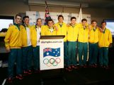 Hockey athletes pose during the Australian Olympic Committee team farewell and flag bearer announcement ahead of the 2014 Youth Olympic Games at The Menzies Hotel on August 12, 2014 in Sydney, Australia.