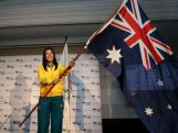 Rugby Sevens player Tiana Penitani is announced as 2014 Australian Youth Olympic Team flag bearer during the Australian Olympic Committee team farewell and flag bearer announcement ahead of the 2014 Youth Olympic Games at The Menzies Hotel on August 12, 2014 in Sydney, Australia.